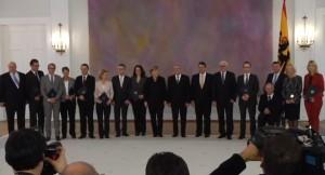 Ernennung der Bundesminister der großen Koalition